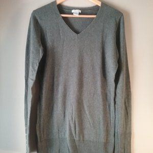 🌞 Alfred Sung Cotton Cashmere Grey Sweater, M